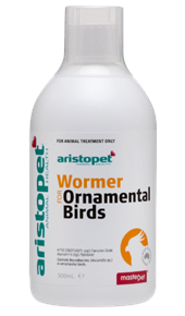Wormer for Ornamental Birds